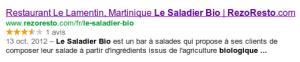 Restaurant Le Saladier Bio sur RezoResto.com