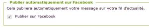 Le restaurateur a le choix de publier ou non son message sur Facebook.